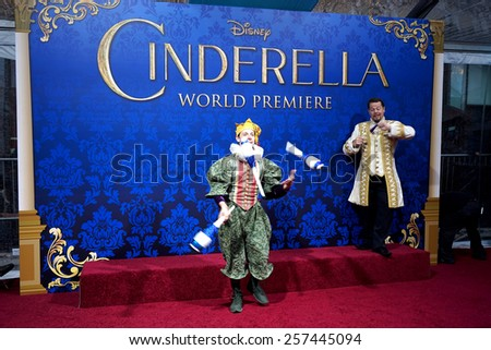"LOS ANGELES - MAR 1:  Atmosphere at the ""Cinderella"" World Premiere at the El Capitan Theater on March 1, 2015 in Los Angeles, CA - stock photo"