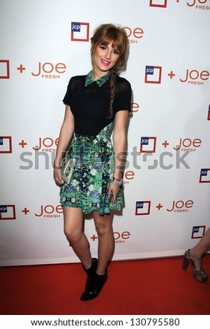 LOS ANGELES - MAR 7:  Bella Thorne arrives at the introduction of Joe Fresh at JCP at the Joe Fresh at JCP Pop Up Store on March 7, 2013 in Los Angeles, CA - stock photo