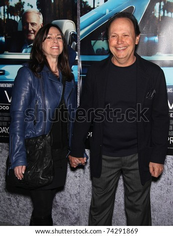 LOS ANGELES - MAR 22:  Billy Crystal & Janice arrives to 'His Way' Los Angeles Premiere  on March 22, 2011 in Hollywood, CA