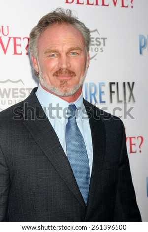 """LOS ANGELES - MAR 16:  Brian Bosworth at the """"Do You Believe"""" Premiere at the ArcLight Hollywood Theaters on March 16, 2015 in Los Angeles, CA - stock photo"""
