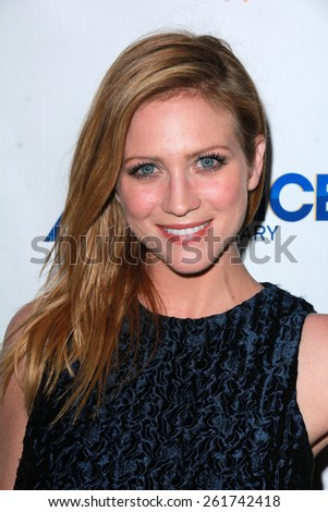 "LOS ANGELES - MAR 16:  Brittany Snow at the DirecTV's ""Full Circle"" Season 2 Premiere at the The London on March 16, 2015 in West Hollywood, CA - stock photo"