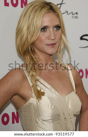 LOS ANGELES - MAR 24:  Brittany Snow at the 12th Anniversary Issue party for Nylon magazine at Tru Hollywood in Los Angeles, California on March 24, 2011. - stock photo