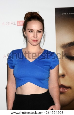 """LOS ANGELES - MAR 27:  Cameron Grimes at the """"A Girl Like Her"""" Screening at the ArcLight Hollywood Theaters on March 27, 2015 in Los Angeles, CA - stock photo"""