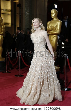 LOS ANGELES - MAR 2:: Cate Blanchett  at the 86th Annual Academy Awards at Hollywood & Highland Center on March 2, 2014 in Los Angeles, California - stock photo