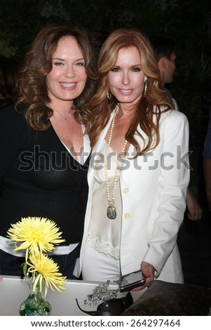 LOS ANGELES - MAR 26:  Catherine Bell, Tracey Bregman at the Young & Restless 42nd Anniversary Celebration at the CBS Television City on March 26, 2015 in Los Angeles, CA - stock photo