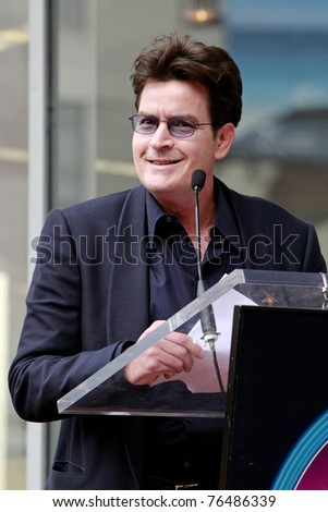 LOS ANGELES - MAR 12:  Charlie Sheen at a ceremony as Television Producer Chuck Lorre is honored with a star on the Hollywood Walk of Fame in Los Angeles, CA on March 12, 2009