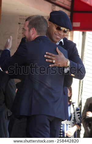 LOS ANGELES - MAR 5:  Chris O'Donnell, LL Cool J, James Todd Smith at the Chris O'Donnell Hollywood Walk of Fame Star Ceremony at the Hollywood Blvd on March 5, 2015 in Los Angeles, CA - stock photo