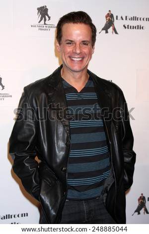LOS ANGELES - MAR 31:  Christian LeBlanc at the LA Ballroom Studio Grand Opening at LA Dance Studio on March 31, 2014 in Sherman Oaks, CA - stock photo