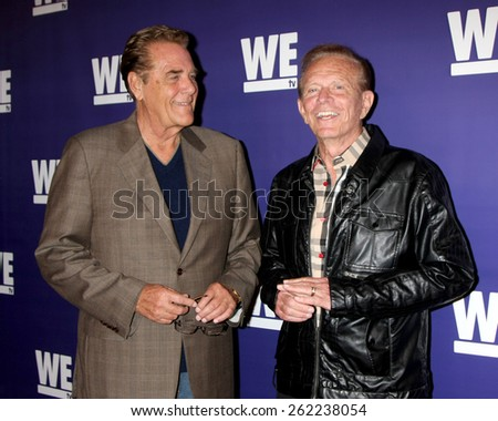 """LOS ANGELES - MAR 19:  Chuck Woolery, Bob Eubanks at the WE tv Presents """"The Evolution of Realationship Reality Shows"""" at the Paley Center For Media on March 19, 2015 in Beverly Hills, CA  - stock photo"""