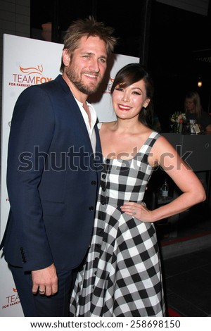 LOS ANGELES - MAR 7:  Curtis Stone, Lindsay Price at the Raising The Bar To End Parkinsons Event at the Public School 818 on March 7, 2015 in Sherman Oaks, CA - stock photo