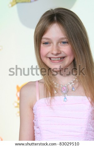 LOS ANGELES - MAR 31: Dakota Fanning at the 2007 Kids' Choice Awards at UCLA in Los Angeles, California on March 31, 2007 - stock photo