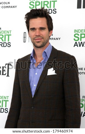 LOS ANGELES - MAR 1:  David Walton at the Film Independent Spirit Awards at Tent on the Beach on March 1, 2014 in Santa Monica, CA
