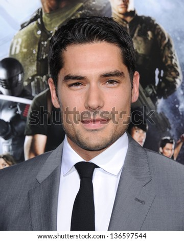 """LOS ANGELES - MAR 28:  DJ Cotrona arrives to the """"G.I. Joe: Retaliation"""" Los Angeles Premiere  on March 28, 2013 in Hollywood, CA. - stock photo"""