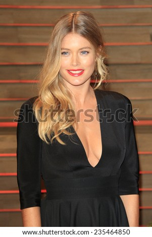 LOS ANGELES - MAR 2:  Doutzen Kroes at the 2014 Vanity Fair Oscar Party at the Sunset Boulevard on March 2, 2014 in West Hollywood, CA - stock photo
