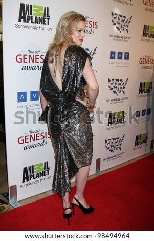 LOS ANGELES - MAR 24:  Elaine Hendrix arrives at  the 2012 Genesis Awards at the Beverly Hilton Hotel on March 24, 2012 in Beverly Hills, CA - stock photo