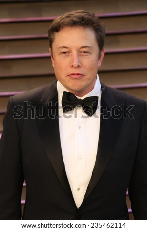 LOS ANGELES - MAR 2:  Elon Musk at the 2014 Vanity Fair Oscar Party at the Sunset Boulevard on March 2, 2014 in West Hollywood, CA - stock photo