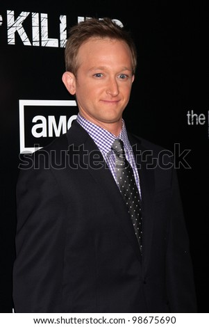 """LOS ANGELES - MAR 26:  Eric Ladin arrives at  the AMC's """"The Killing"""" Season 2 Premiere at the ArcLight Theaters on March 26, 2012 in Los Angeles, CA - stock photo"""