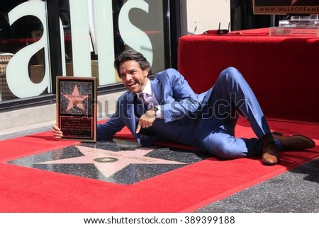 LOS ANGELES - MAR 10:  Eugenio Derbez at the Eugenio Derbez Hollywood Walk of Fame Star Ceremony at the Hollywood Walk of Fame on March 10, 2016 in Los Angeles, CA - stock photo