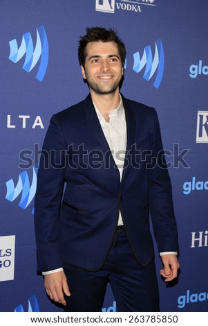 LOS ANGELES - MAR 21:  Freddie Smith at the 26th Annual GLAAD Media Awards at the Beverly Hilton Hotel on March 21, 2015 in Beverly Hills, CA - stock photo