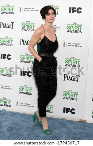 LOS ANGELES - MAR 1:  Gaby Hoffmann at the Film Independent Spirit Awards at Tent on the Beach on March 1, 2014 in Santa Monica, CA