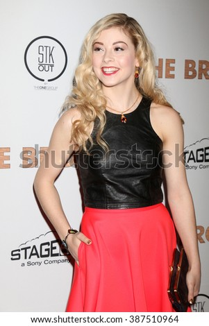 LOS ANGELES - MAR 7:  Gracie Gold at the The Bronze Premiere at the SilverScreen Theater at the Pacific Design Center on March 7, 2016 in Los Angeles, CA