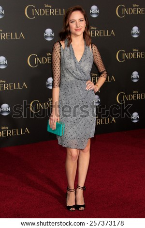 LOS ANGELES - MAR 1: Haley Ramm at the World Premiere of 'Cinderella' at the El Capitan Theater on March 1, 2015 in Hollywood, Los Angeles, California - stock photo