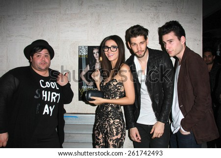 LOS ANGELES - MAR 12:  Harvey Guillen, Victoria Justice, Casey Jon Deidrick, John Garet Stoker at the Kode Magazine Spring 2015 Cover Party at the The Standard on March 12, 2015 in West Hollywood, CA