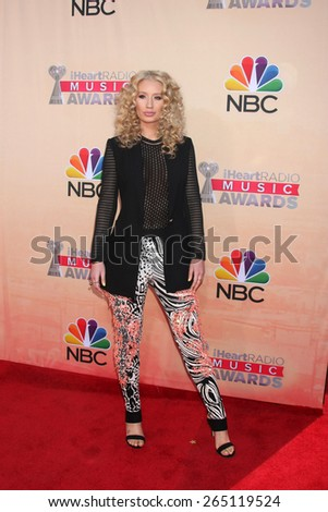 LOS ANGELES - MAR 29:  Iggy Azalea at the 2015 iHeartRadio Music Awards at the Shrine Auditorium on March 29, 2015 in Los Angeles, CA - stock photo