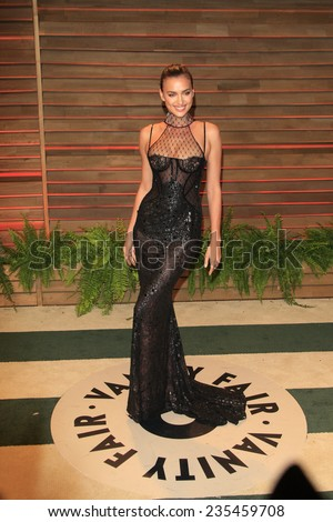 LOS ANGELES - MAR 2:  Irina Shayk at the 2014 Vanity Fair Oscar Party at the Sunset Boulevard on March 2, 2014 in West Hollywood, CA - stock photo