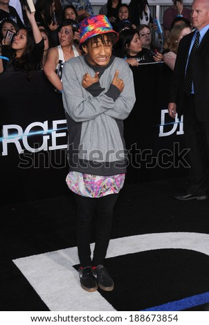 LOS ANGELES - MAR 18:  Jaden Smith arrives to the 'Divergent' Los Angeles Premiere  on March 18, 2014 in Westwood, CA                 - stock photo