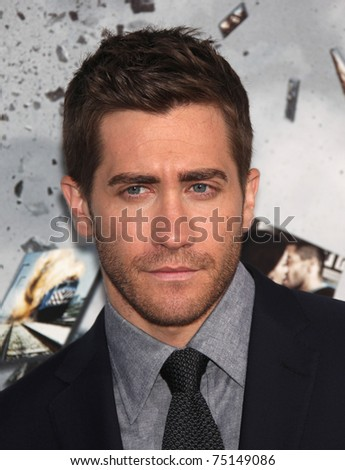 "LOS ANGELES - MAR 28:  Jake Gyllenhaal arrives to the ""Source Code"" Los Angeles Premiere  on March 28, 2011 in Beverly Hills, CA - stock photo"