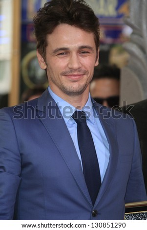 LOS ANGELES - MAR 7: James Franco at a ceremony as James Franco is honored with a star on the Hollywood Walk of Fame on March 7, 2013 in Los Angeles, California