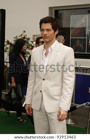LOS ANGELES - MAR 27:  James Marsden arriving at the World Premiere of 'HOP' held at Universal Studios Hollywood in Los Angeles, California on March 27, 2011. - stock photo