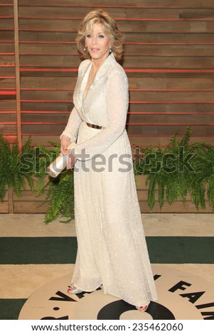 LOS ANGELES - MAR 2:  Jane Fonda at the 2014 Vanity Fair Oscar Party at the Sunset Boulevard on March 2, 2014 in West Hollywood, CA - stock photo
