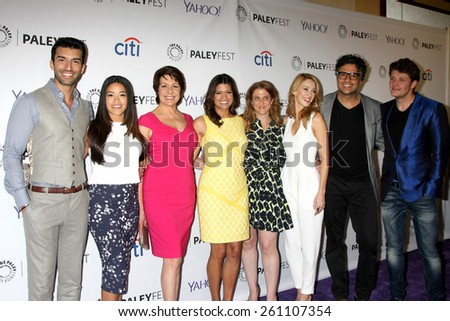 """LOS ANGELES - MAR 15:  Jane the Virgin Cast at the PaleyFEST LA 2015 - """"Jane the Virgin"""" at the Dolby Theater on March 15, 2015 in Los Angeles, CA - stock photo"""