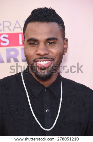 LOS ANGELES - MAR 29:  Jason Derulo arrives to the 2015 iHeartRadio Music Awards  on March 29, 2015 in Hollywood, CA                 - stock photo