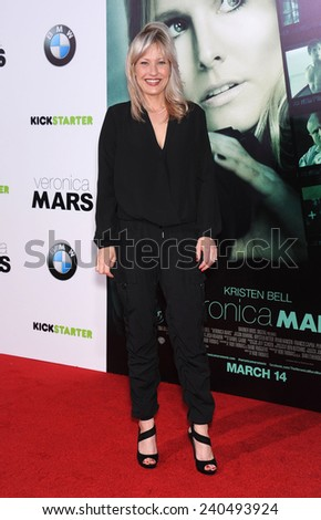 "LOS ANGELES - MAR 12:  Joey Lauren Adams arrives to the """"Veronica Mars"" Los Angeles Premiere  on March 12, 2014 in Hollywood, CA                 - stock photo"