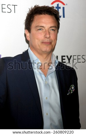 "LOS ANGELES - MAR 14:  John Barrowman at the PaleyFEST LA 2015 - ""Arrow"" and ""The Flash"" at the Dolby Theater on March 14, 2015 in Los Angeles, CA - stock photo"