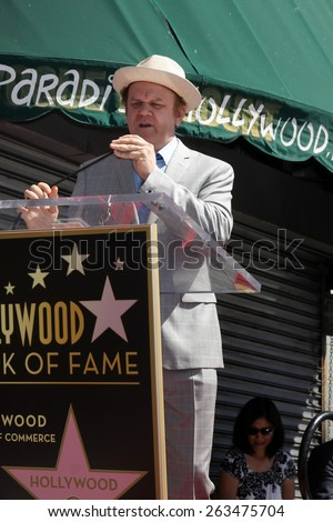 LOS ANGELES - MAR 24:  John C Reilly at the Will Ferrell Hollywood Walk of Fame Star Ceremony at the Hollywood Boulevard on March 24, 2015 in Los Angeles, CA - stock photo