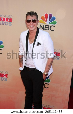 LOS ANGELES - MAR 29:  John Newman at the 2015 iHeartRadio Music Awards at the Shrine Auditorium on March 29, 2015 in Los Angeles, CA - stock photo