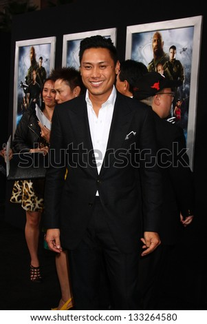 """LOS ANGELES - MAR 28:  Jon M. Chu arrives at the """"G.I. Joe: Retaliation""""  LA Premiere at the Chinese Theater on March 28, 2013 in Los Angeles, CA - stock photo"""