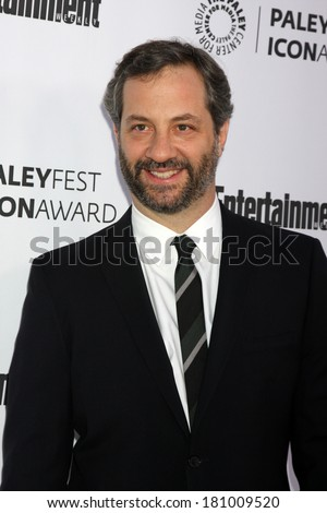 LOS ANGELES - MAR 10:  Judd Apatow at the PALEYFEST Icon Award IHO Judd Apatow at Paley Center For Media on March 10, 2014 in Beverly Hills, CA - stock photo