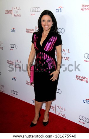 LOS ANGELES - MAR 11:  Julia Louis-Dreyfus at the Television Academy's 23rd Hall Of Fame Induction Gala at Beverly Wilshire Hotel on March 11, 2014 in Beverly Hills, CA - stock photo