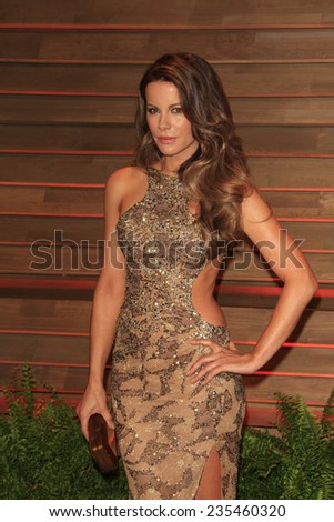 LOS ANGELES - MAR 2:  Kate Beckinsale at the 2014 Vanity Fair Oscar Party at the Sunset Boulevard on March 2, 2014 in West Hollywood, CA - stock photo