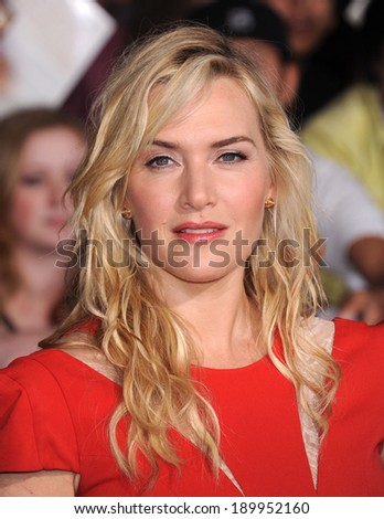 LOS ANGELES - MAR 18:  Kate Winslet arrives to the 'Divergent' Los Angeles Premiere  on March 18, 2014 in Westwood, CA                 - stock photo
