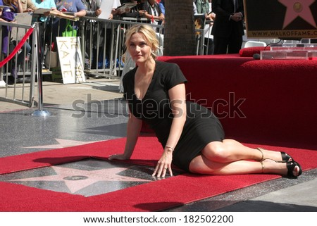 LOS ANGELES - MAR 17:  Kate Winslet at the Kate Winslet Hollywood Walk of Fame Star Ceremony at W Hotel on March 17, 2014 in Los Angeles, CA - stock photo