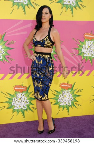 LOS ANGELES - MAR 23 - Katy Perry arrives at the Nickelodeons 2013 Kids Choice Awards on March 23,  2013 in Los Angeles, CA              - stock photo