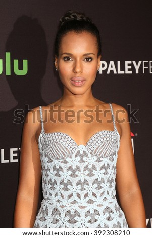 LOS ANGELES - MAR 15:  Kerry Washington at the PaleyFest Los Angeles - Scandal at the Dolby Theater on March 15, 2016 in Los Angeles, CA - stock photo