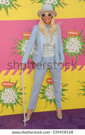 LOS ANGELES - MAR 23 - Kesha, Ke$ha arrives at the Nickelodeons 2013 Kids Choice Awards on March 23,  2013 in Los Angeles, CA              - stock photo