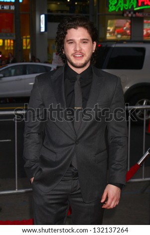 "LOS ANGELES - MAR 18:  Kit Harington arrives at ""Game of Thrones"" Season 3 Premiere at the Chinese Theater on March 18, 2013 in Los Angeles, CA"
